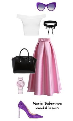 Без названия #585 by mariaalex-stylist on Polyvore featuring polyvore, fashion, style, WearAll, Chicwish, Jimmy Choo, Givenchy, Boohoo, STELLA McCARTNEY and clothing