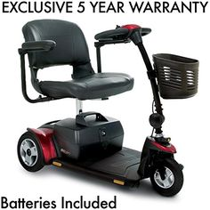 Pride GoGo Elite Traveller Plus 3Wheel Scooter Incl 5 Year Ext Warr Incl battery Pack ** Offer can be found by clicking the image