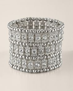 Chicos Womens Silver Bilkana Stretch Bracelet in Summer 2 2013 from Chico's on shop.CatalogSpree.com, my personal digital mall.