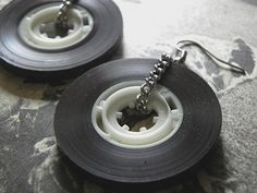Old School Cassette Tape Earrings! #Earings, #Jewelry, #Tape