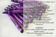 Are you being bashed? A handy guide involving purple crayons.