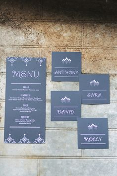 deep grey wedding invites with a touch of deco // photo by ee photography // invitations by The Creative Parasol