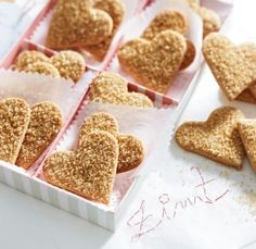 The best Cinnamon Sugar Hearts recipe you will ever find. Welcome to RecipesPlus, your premier destination for delicious and dreamy food inspiration. Cupcake Cookies, Chip Cookies, Cupcakes, Gingerbread Cookies, Christmas Cookies, Christmas Snacks, Low Calorie Cookies, Hershey Kiss Cookies, Cakes And More