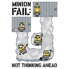 The Minions - Minion Fail : Not Thinking Ahead Princess Toadstool, Wonder Man, Minions Despicable Me, The Three Musketeers, Bad Wolf, Super Smash Bros, Caption, Fails, Spiderman