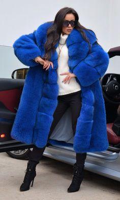NEW 2018 BLUE ROYAL FOX FUR COAT CLASS- CHINCHILLA SABLE MINK SILVER LONG JACKET | eBay
