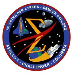 Spaceflight Memorial Patch honoring all 3 crews we've lost in pursuit of human spaceflight. 1/27/67, 1/28/86, 2/1/03