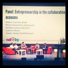 """Les acteurs de la consommation collaborative pendant le talk """"Car sharing & collaborative consumption"""" #web2day"""