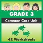 Harness a natural interest in sea turtles to cover ALL of the Third Grade ELA Common Core standards!  This comprehensive worksheet pack includes 7 ...