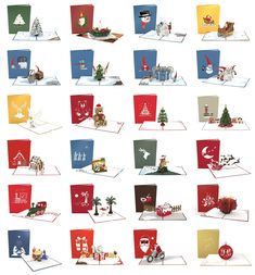 Get ready for the upcoming season by pulling out all your holiday card sayings and holiday card messages! Celebrate the joy that others bring into your life with a funny or sweet message and a Lovepop holiday pop up card! Christmas Gifts To Make, Nordic Christmas, Christmas Candle, Christmas Countdown, Christmas Angels, Christmas Snowman, Merry Christmas, Christmas Tree Village, Pop Up Greeting Cards