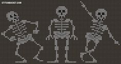 Dancing Skeletons Cross Stitch Pattern by StitchBucket on Etsy https://www.etsy.com/listing/166422160/dancing-skeletons-cross-stitch-pattern