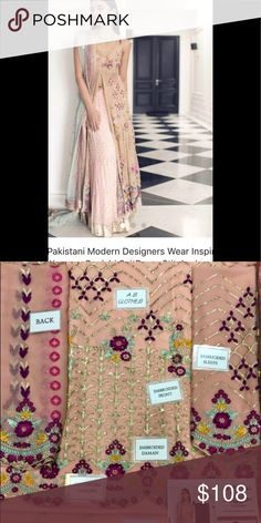 1d89b31ecf Indian pAkistani Embroidered women dress Unstitched fabrics with duppatta. Women  Pakistani Embroidered salwar kameez Dresses. Poshmark