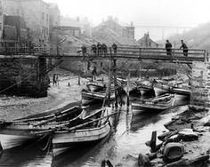 Staithes Beck in Victorian times