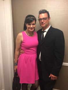 Pauley Perrette and her fiancé, Thomas at The Thirst Project Gala