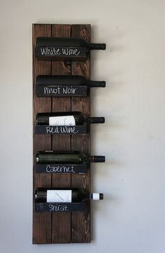 Wall Mount Wine Rack on Etsy, $100.00