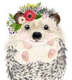 Woodland Nursery Nursery Print Set of 3 Raccoon Painting Bear Hedgehog Baby Forest Kids Poster Girl Nurse Baby Shower Gift Animal Paintings, Animal Drawings, Cute Drawings, Woodland Nursery, Woodland Animals, Nursery Prints, Nursery Art, Nursery Paintings, Watercolor Animals