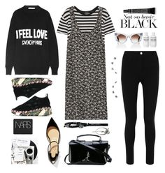 """""""Fall back black..."""" by sue-mes ❤ liked on Polyvore featuring R13, Givenchy, Christian Louboutin, Grown Alchemist, NARS Cosmetics, Kenzo, Yves Saint Laurent, Thierry Lasry, Simply Vera and King Baby Studio"""