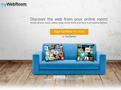 MyWebroom, a virtual room with your favorite websites
