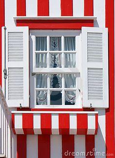 Typical Decorated Window In Costa Nova
