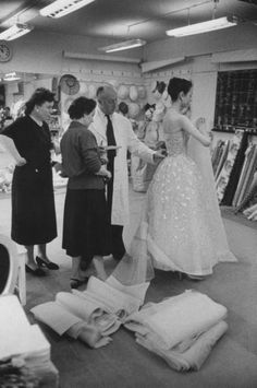 Christian Dior photographed for Life magazine by Loomis Dean 1957