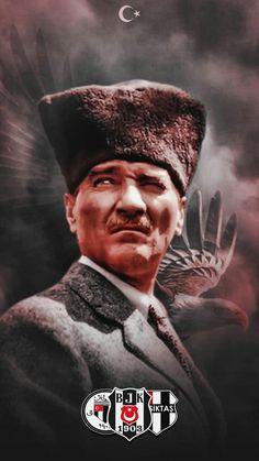 Beşiktaş #beşiktaş #mustafa #kemal #atam Black Eagle, Mix Photo, Juventus Fc, Kara, First Love, Football, Wallpaper, Sports, Movie Posters