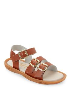 Umi (Toddler Girls) Cognac Celeste Open Toe Flat Sandals
