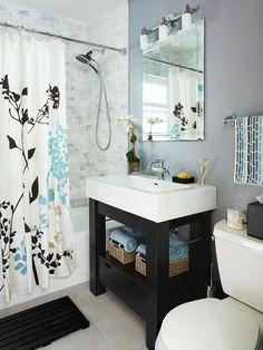 DIY Bathroom Vanities - I like the idea of etching around the mirror...