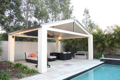 Australia's leading Patio & Pergola with 'Comfort and Style'. For all your patio design needs speak to one of our SolarSpan patio builders or dealers. Diy Pergola, Cheap Pergola, Pergola Kits, Pergola Ideas, Patio Ideas, Roof Ideas, Garden Ideas, Outdoor Rooms, Outdoor Living