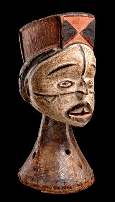 Africa | Dance crest from the Idoma people of Nigeria | Wood, polychrome paint