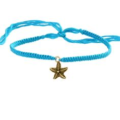 Friendship Bracelet with Gold Starfish $14 #jewelry
