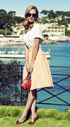pollera con blusa I love everything about this look!
