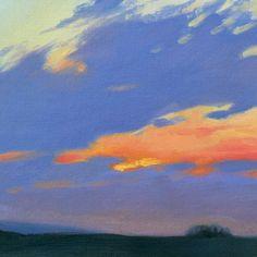 Purple Cloud landscape plein air oil painting by ursastudio