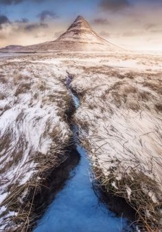 Montaña volcánica Kiskjuffel, en Grundarförour, Islandia (IS), por Fabrizio Fortuna