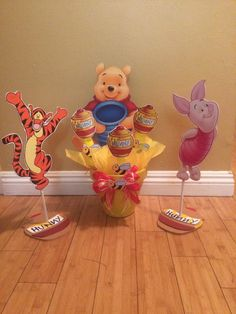 Winnie the Pooh Character Centerpieces made by SouthFlower on Etsy.com