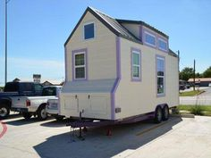 This interesting portable tiny home for sale, although now it has been transformed into an office with the kitchen removed and it is for sale for $34,999 http://tinyhouselistings.com/tiny-officetiny-home/  More photos @ http://www.flickr.com/photos/hahaha/sets/72157631437430250/