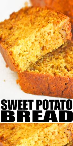 SWEET POTATO BREAD RECIPE- The best, classic, old fashioned, easy sweet potato quick bread recipe, homemade with simple ingredients and canned sweet potatoes. This super moist and tender sweet quick bread is loaded with canned sweet potatoes and chai spices. Can also add pecans, pumpkin pie spice or just cinnamon. Can also use it in a trifle or pudding layer. From CakeWhiz.com #bread #dessert #sweetpotato #thanksgiving #fall #baking Canned Sweet Potato Recipes, Canning Sweet Potatoes, Sweet Potato Bread, Sweet Recipes, Best Homemade Bread Recipe, Quick Bread Recipes, Baking Recipes, Simple Sweet Bread Recipe, Easy Desserts