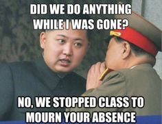Check out: Kim Jong Un: The other side of the coin. One of our funny daily memes selection. We add new funny memes everyday! Bookmark us today and enjoy some slapstick entertainment! Kim Jong Un Memes, Kim Meme, Meme Guy, Psy Gangnam Style, North Korea Kim, South Korea, Teaching Memes, Teaching Methods, Teaching Ideas