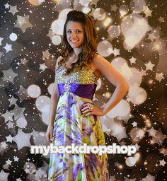 Black Star Glittering Bokeh Photo Booth Backdrop – made by MyBackdropShop on Etsy