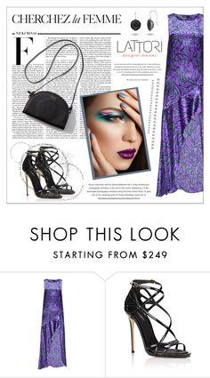 """LATTORI dress"" by water-polo ❤ liked on Polyvore featuring Lattori, Nicki Minaj, Dolce&Gabbana, La Femme, polyvoreeditorial and lattori"