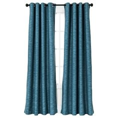 TARGET- Need curtains for the living room and my bedroom. I like the style of these (and the fact that they darken the room) for the bedrooms. Like this color for living room maybe, but need something sheerer.