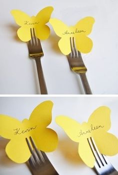 love this idea for place cards but with a butterfly phobia i doubt i would use those specific cut outs! hahalove this idea for place cards but with a butterfly phobia i doubt i would use those specific cut outs! Butterfly Place, Butterfly Cutout, Diy Butterfly, Butterfly Table, Festa Party, Tea Party Birthday, Diy Birthday, Partys, Deco Table