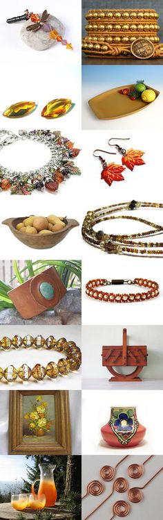 Shades of Autumn by SilverandEarth on Etsy--Pinned+with+TreasuryPin.com