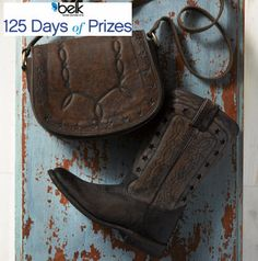 Behind every cowboy is a cowgirl--with cute accessories. Enter now for your chance to win a Frye Handbag and shoes! #belk125