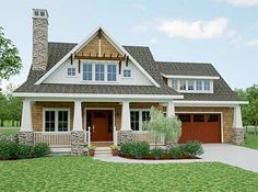 Craftsman style. Just over 2100 sq ft. Main floor master suite.