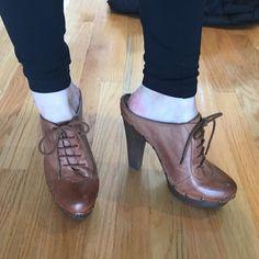 Sam Edleman clogs - great w flare leg jeans Sam Edleman cognac leather clogs Sam Edelman Shoes Mules & Clogs