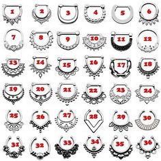 Septum Clicker Various Styles Nose Ring Fake+Real Piercing Jewelry Septum Clicker, Calendar, Templates, Holiday Decor, Piercings, Cards, Ebay, Tattoos, Peircings