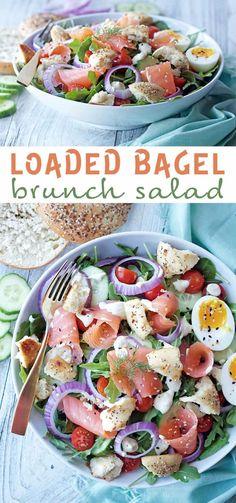 Loaded Bagel Salad