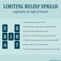 Limiting Belief Tarot Spread Inspired by the Eight of Swords