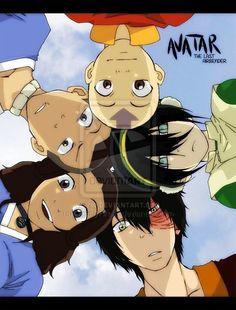Aang, Sokka, Katara, Zuko, and Toph