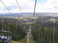 Great lift rides in the summer at Sunrise Ski Resort.