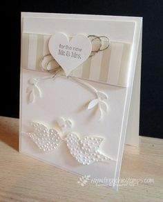 Stamp & Scrap with Frenchie: Wedding in all Vanilla #weddingcard #DYI #stampinup
